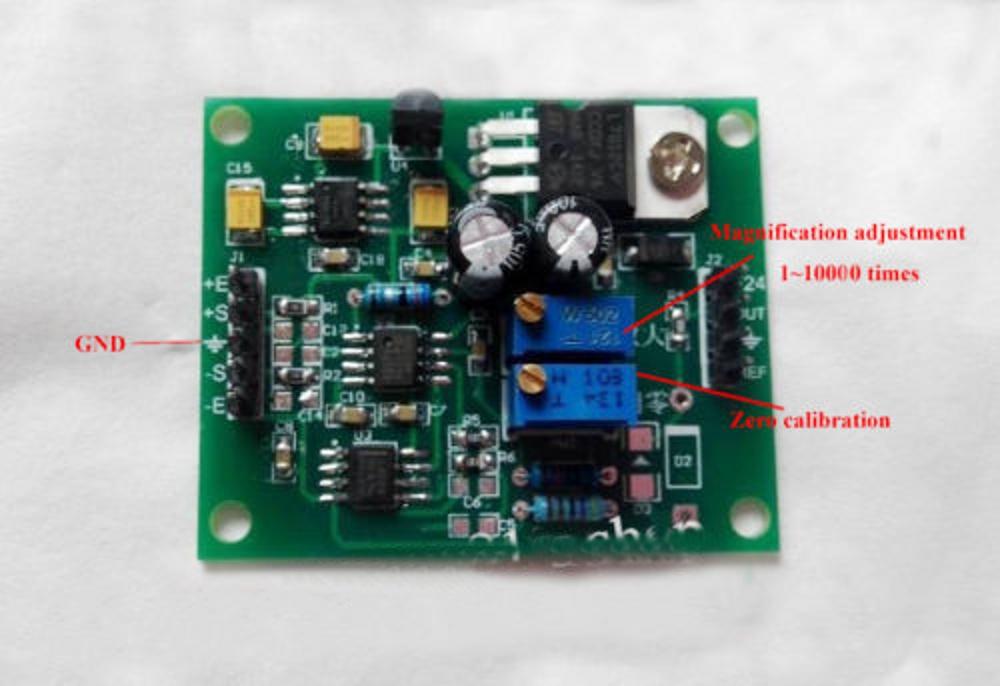 DC Microvolt Milivolt Voltage Amplifier Board AD620 Signal Module ...