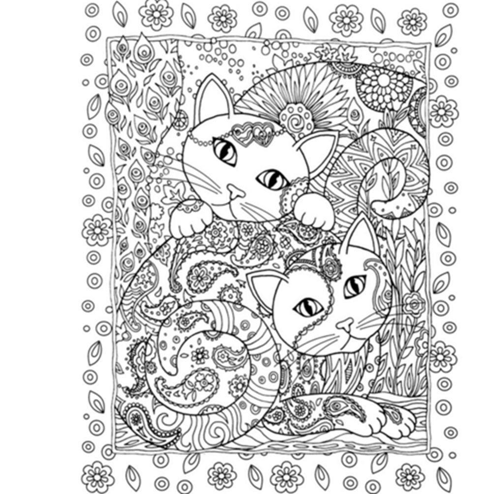Secret Garden Series Creative Haven Cats Colouring Book 2119 CM