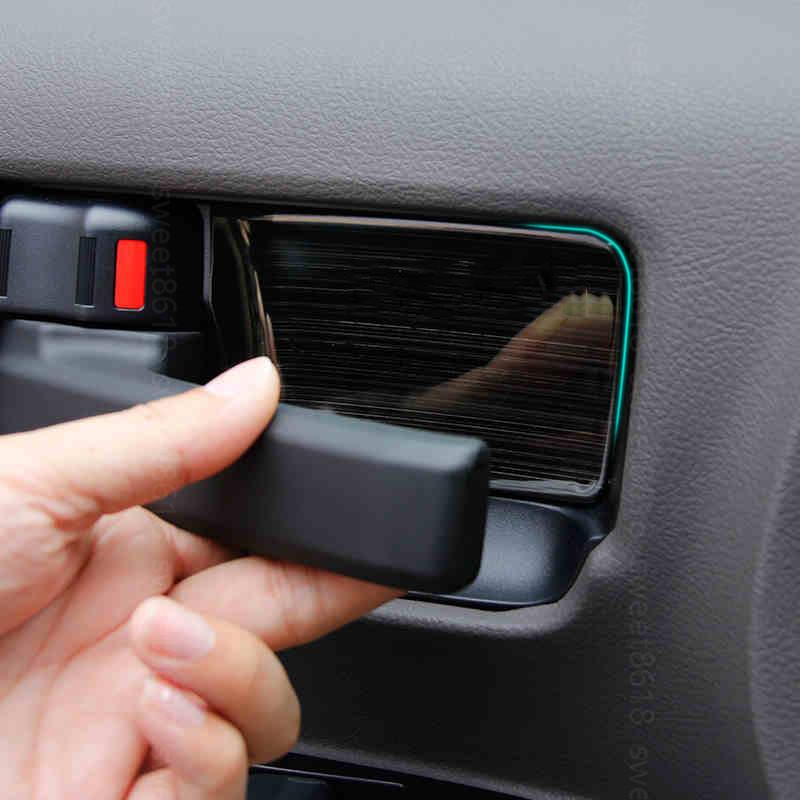 4PCS ABS Inner Car Door bowl Decorative trim For Toyota Land Cruiser LC200 08-18