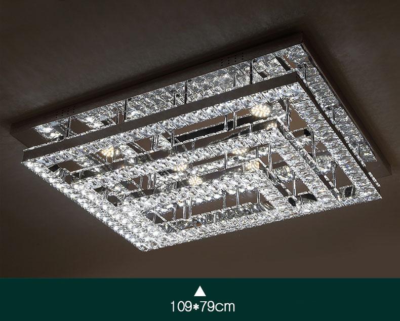Mini Kristall Kronleuchter In Einer Glühbirne ~ Led fernbedienung rechteck kristall deckenlampen kronleuchter