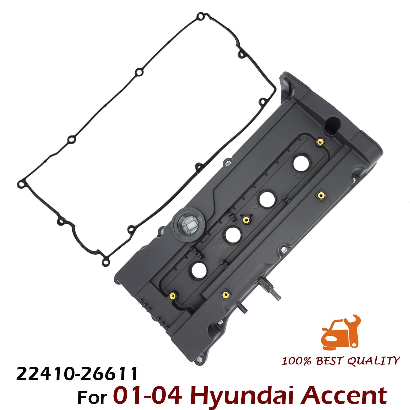 Engine Valve Cover PCV Valve Gasket for 01-04 Hyundai Accent OEM 2241026611