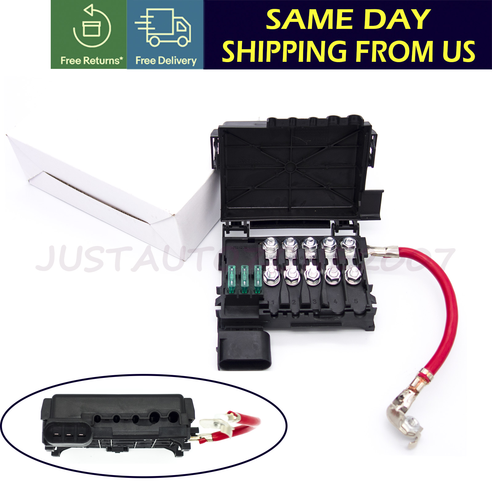 Details about Fits For Jetta Golf Mk4 Beetle Fuse Box Battery Terminal on 2005 silverado fuse box, 2005 suburban fuse box, 1999 cadillac eldorado fuse box, 05 sierra fuse panel box, 2007 chevy silverado fuse box, 2008 chevy trailblazer ss fuse box, 05 silverado fuse box, 02 suburban 5.3l fuse box, 02 cadillac escalade fuse box, 2007 corolla fuse box, of a 2004 pacifica fuse box,