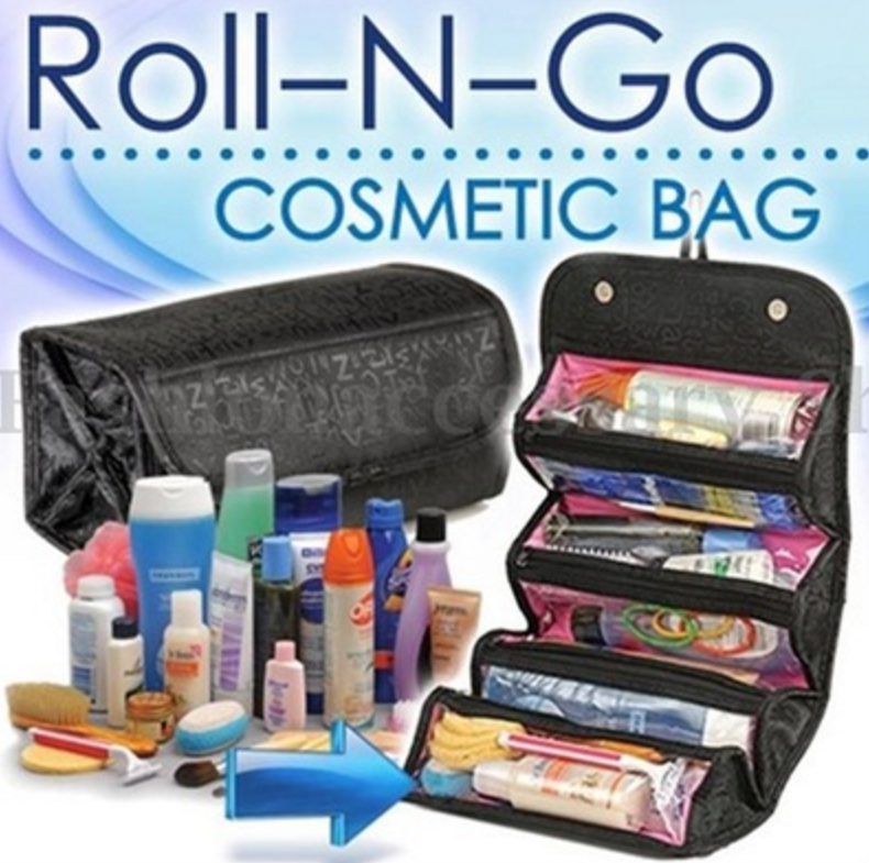 Travel roll up cosmetic makeup case organizer pouch hanging toiletry travel roll up cosmetic makeup case organizer pouch hanging toiletry wash bag gumiabroncs Image collections
