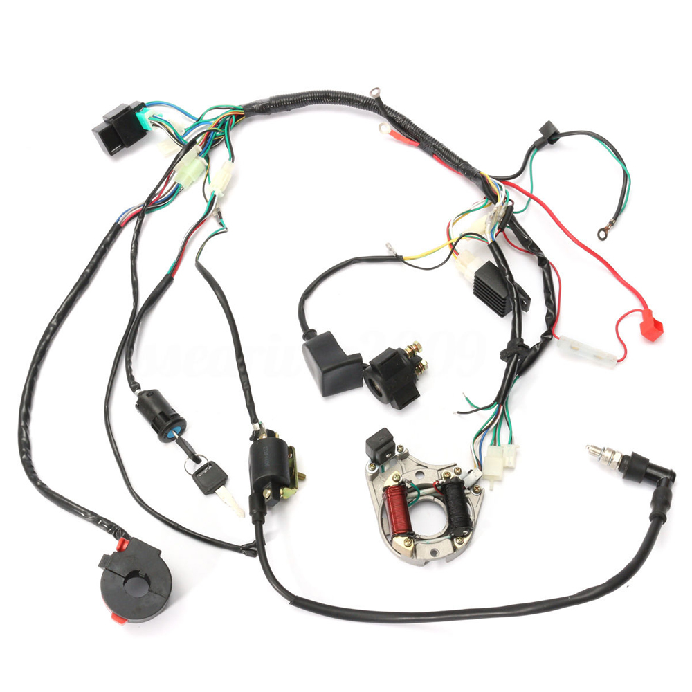 50 70 90 110 125cc Cdi Wire Harness Assembly Wiring Kit Atv Electric Start Quad