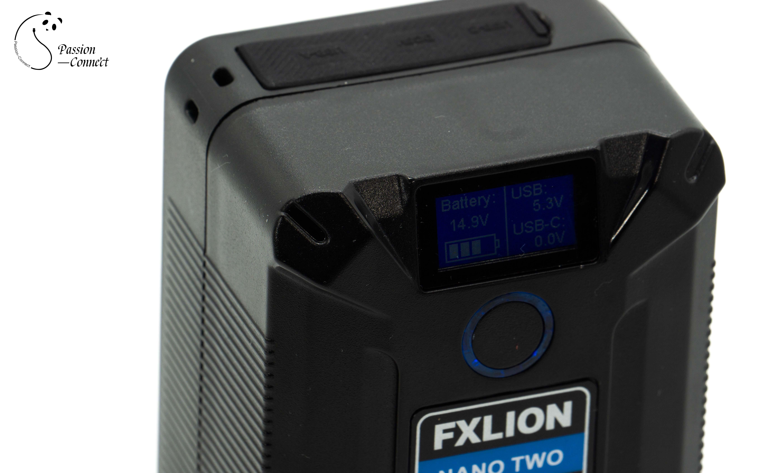 Fxlion Nano dos ultracompacta V-Mount Batería USB A//C D-Tap Con Pantalla Lcd 98Wh