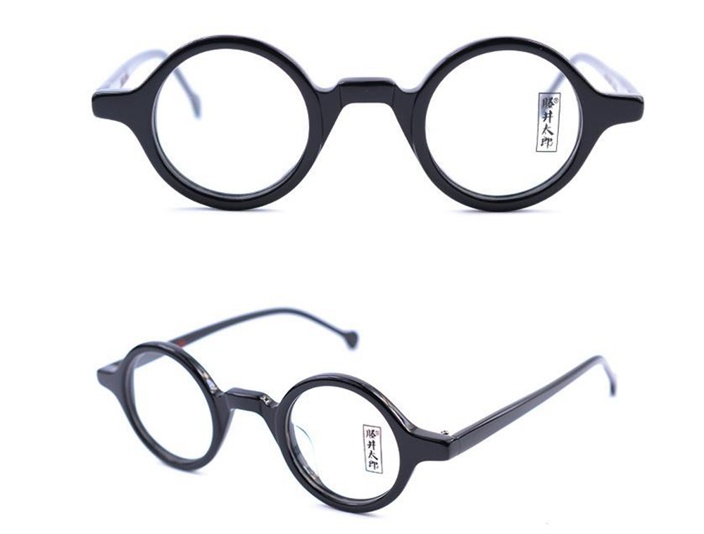 38mm Vintage Small Round Eyeglass Frames Acetate Rx-able Spectacles ...