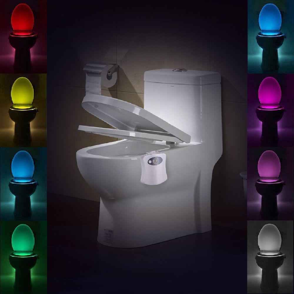 Automatic light sensor for bathroom - 1 X 8 Color Led Motion Sensing Automatic Toilet Bowl Night Light
