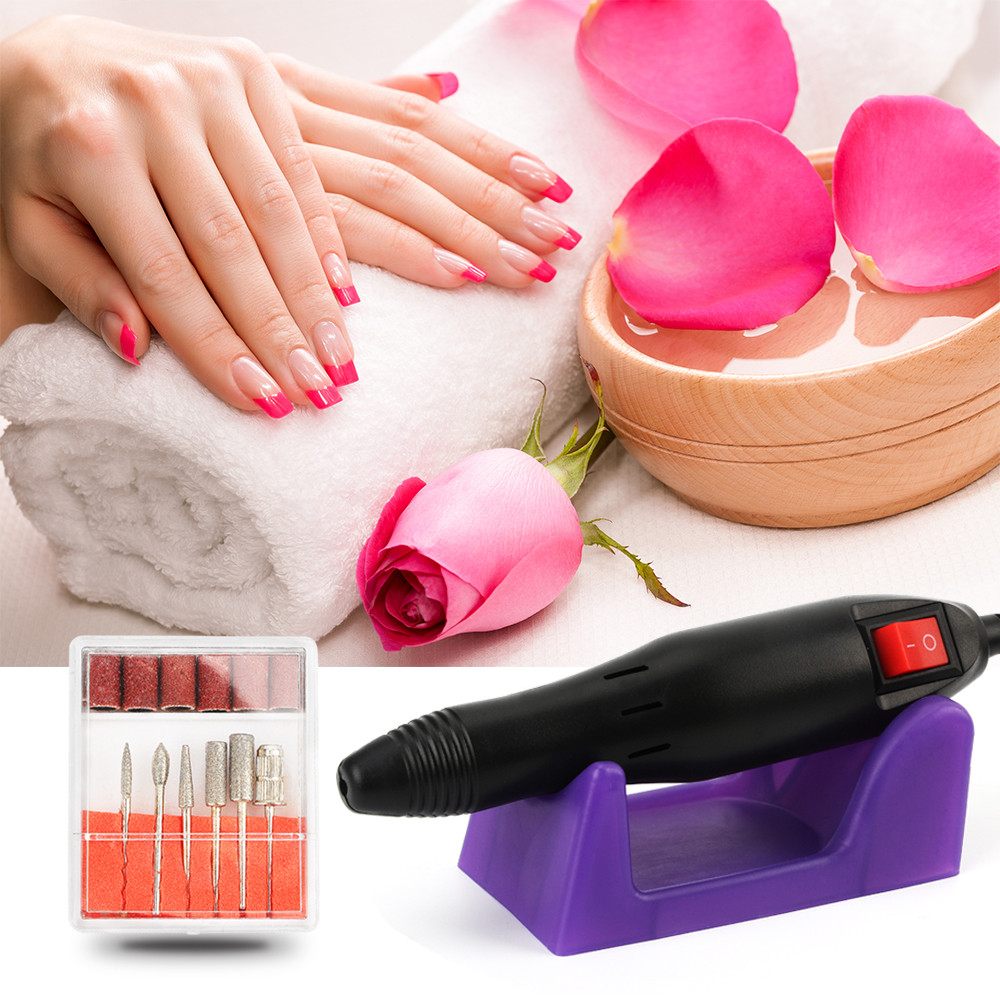 20,000rpm Electric Nails Manicure Drill Polishing Tools Kit ...