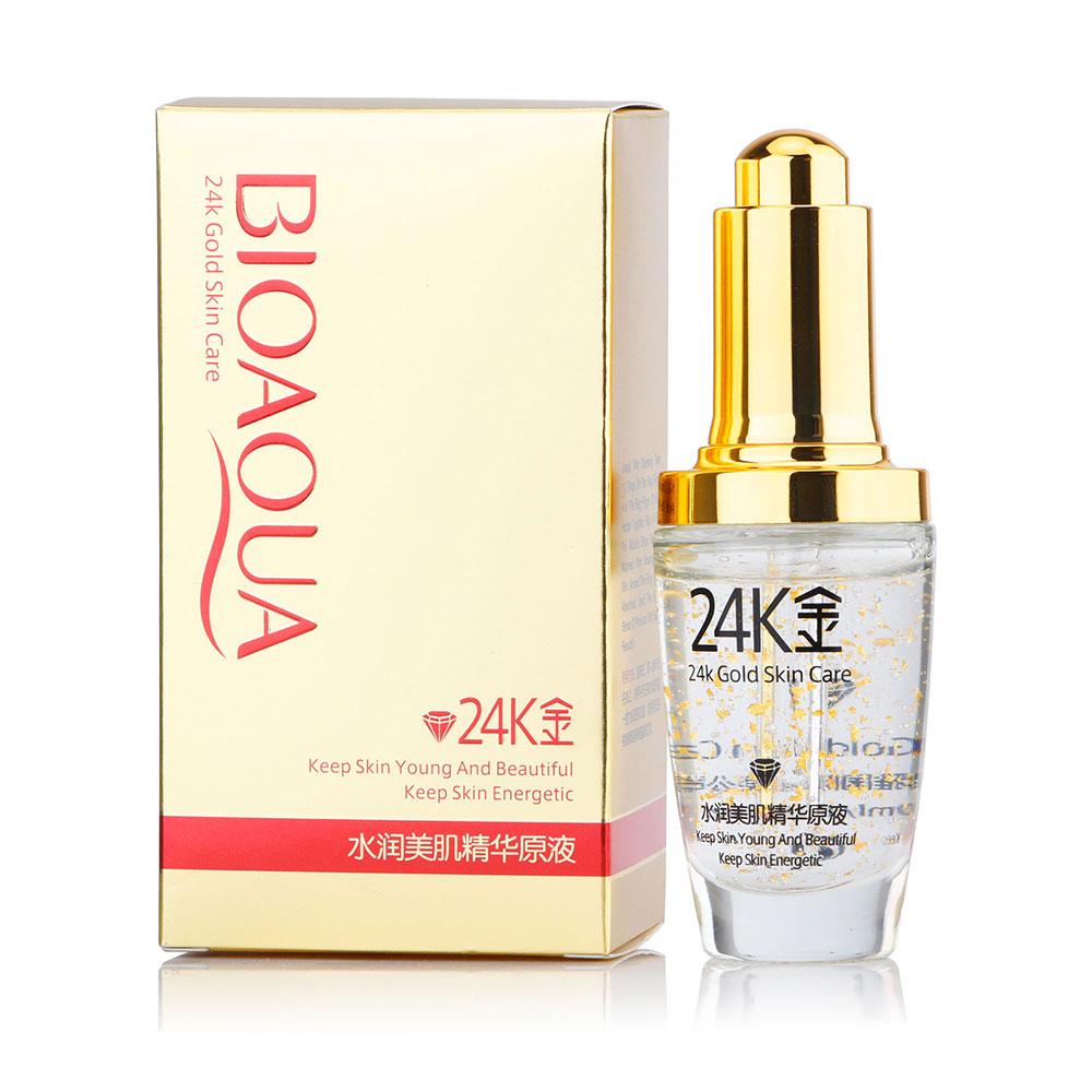 24K GOLD Collagen Essence Oil Anti-Aging Wrinkle Liquid Face Cream Moisturizing