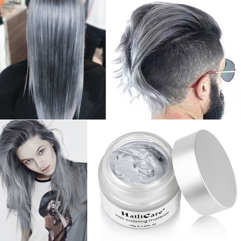 Silver Colour Grey Hair Wax Men Women Grandma Hair Ash Dye Gray Mud ...