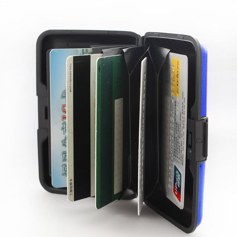 6 Farbes Aluminium Kreditkarten Etui Visitenkarten Ec