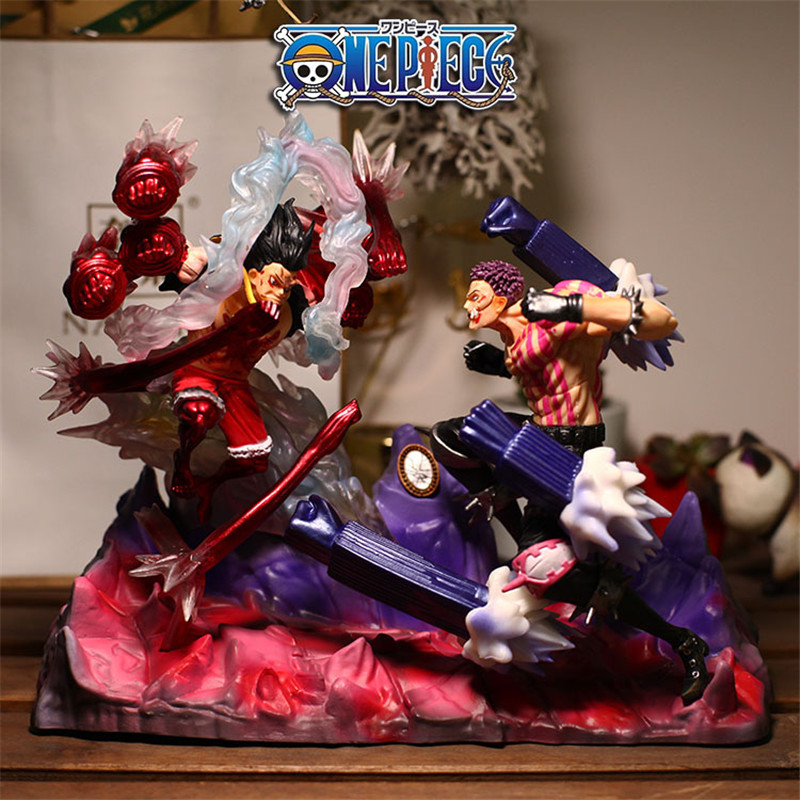 One Piece Snake Man Ver Luffy Vs Charlotte Katakuri Gk Statue Figur Figuren Ebay