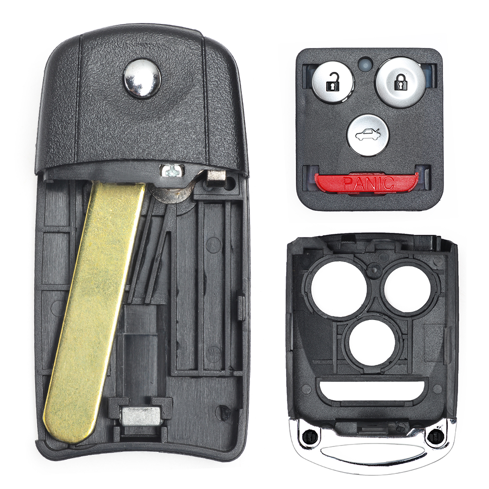 Remote Car Flip Key Fob Keyless Entry 4 Btn For 2007-2008