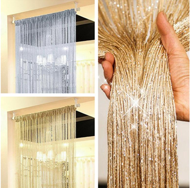 Bead String Tassel Curtain Door Room Divider Line Fringe Fly Screen Panel Window