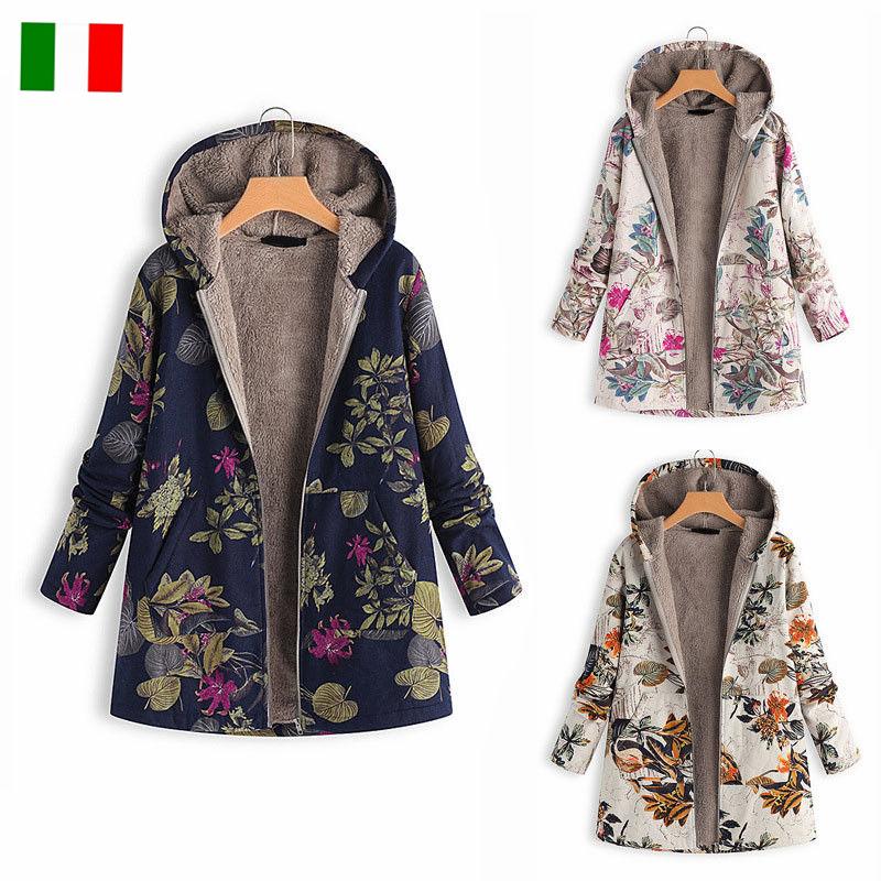 cappotti floreali donna