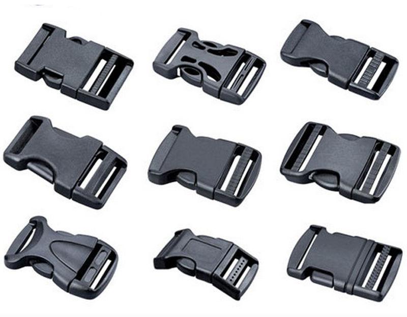 newest lowest discount new images of Details about 20mm-50mm Boucles en plastique de libération de la côté  boucle Clips pour sangle