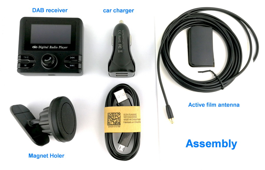 universal kfz dab tuner autoradio fm transmitter auto dab digital radio adapter ebay. Black Bedroom Furniture Sets. Home Design Ideas