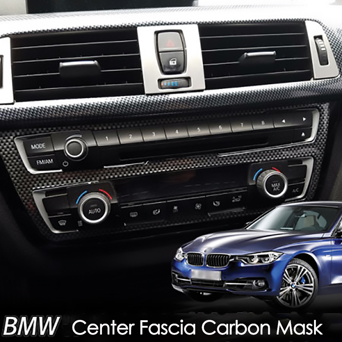New Carbon Fiber Center Dashboard Consol Cover For Bmw 3series F30 320d 328i Ebay