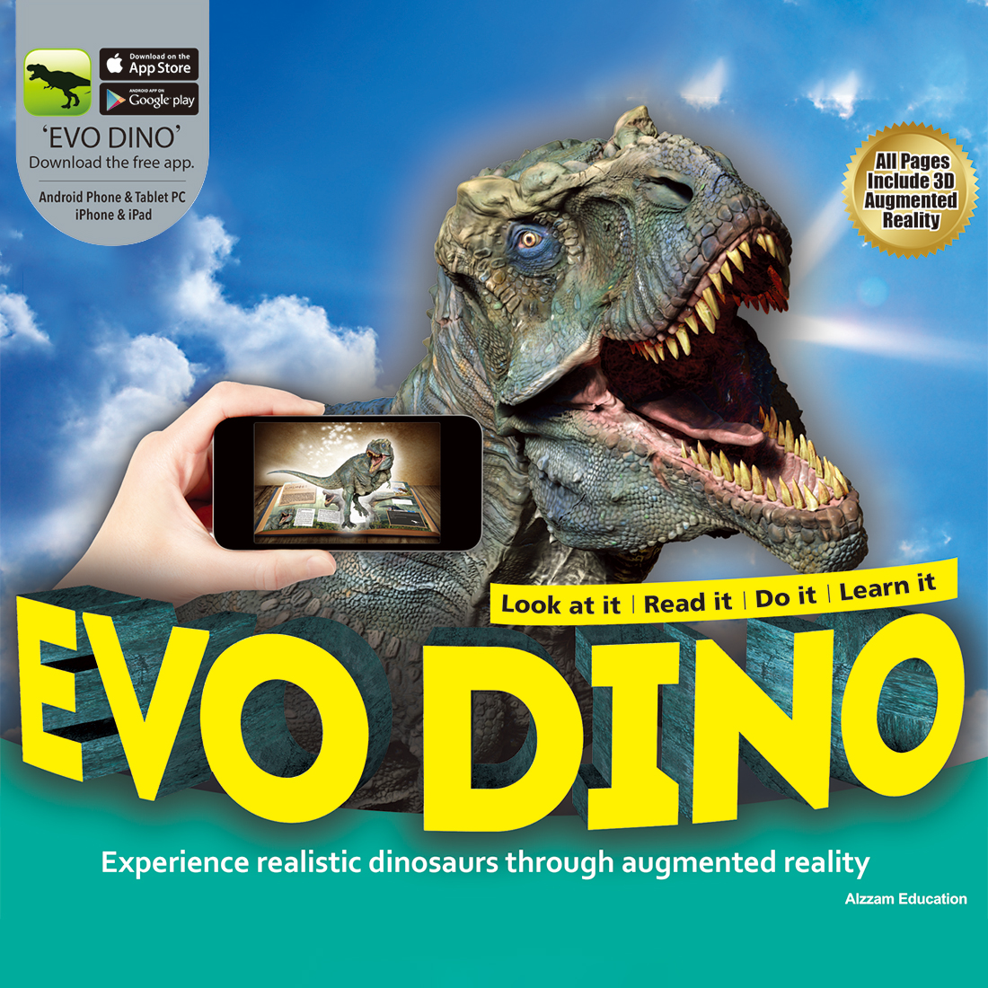AREVO EVO DINO AR Book 3D Interactive Childrens Learning Dinosaurs