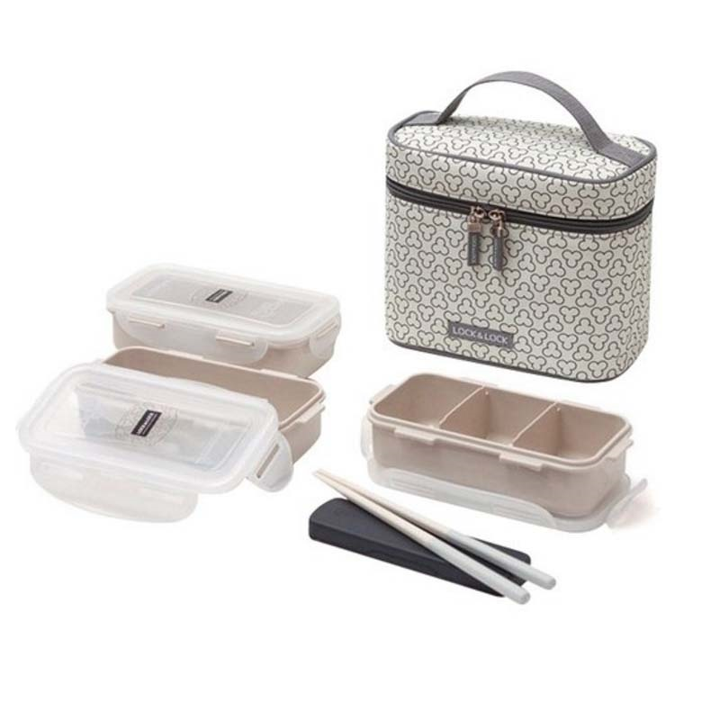 Lock Amp Lock Hpl754ci Clover Combo Lunch Box Set With Bag