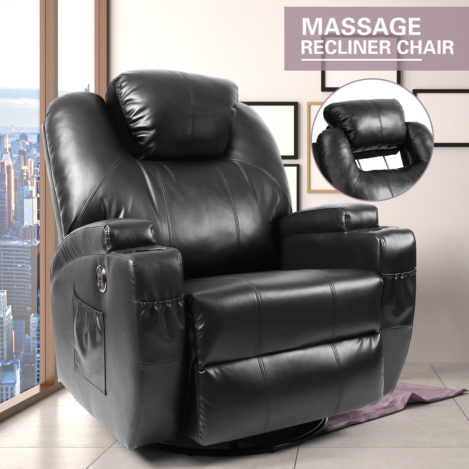 Amazing Details About Electric Heated Full Body Massage Chair Zero Gravity Leather Power Recliner Sofa Ncnpc Chair Design For Home Ncnpcorg