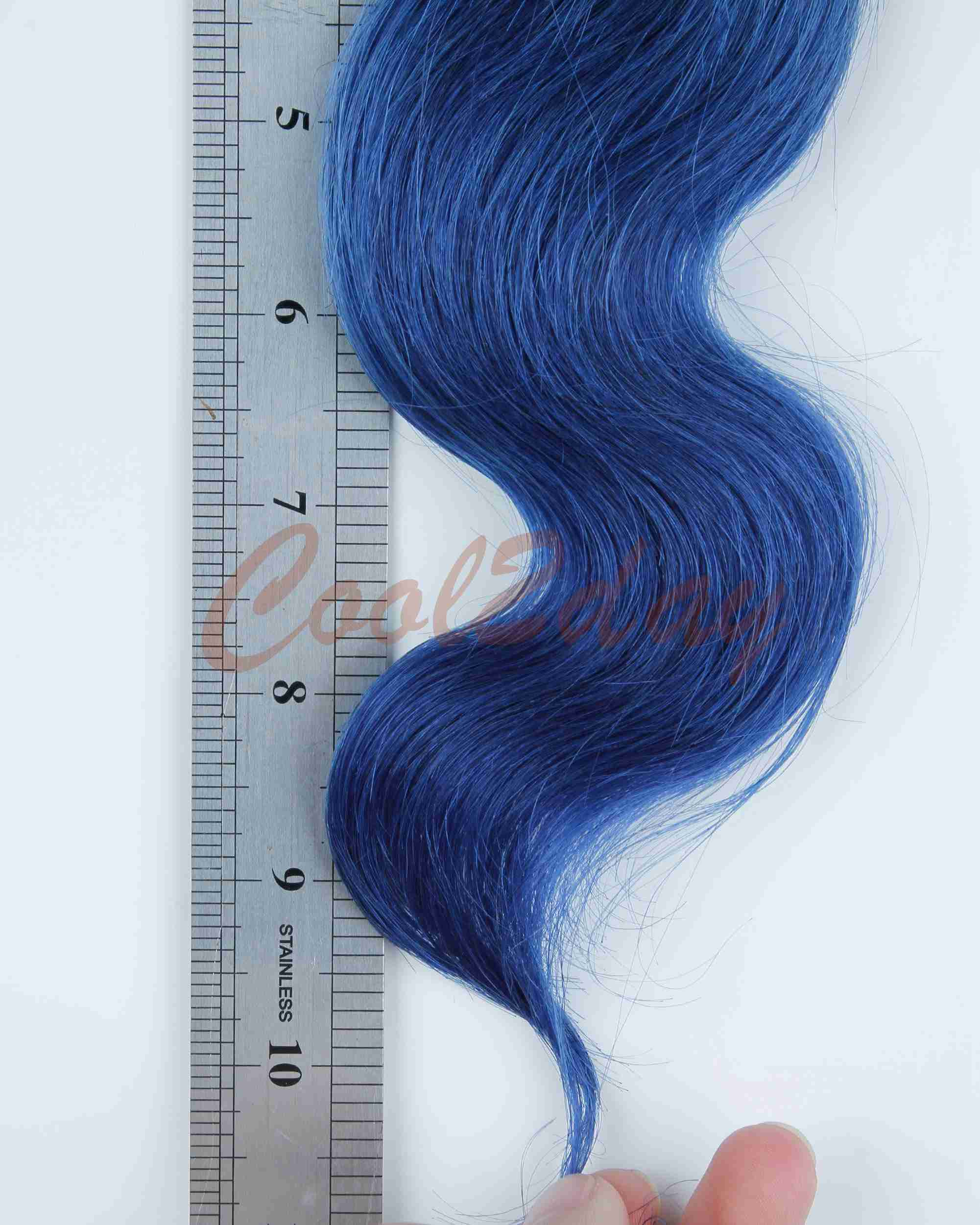 Omber Two Tone Blue Brazilian Human Hair Extensions Body Wave Virgin