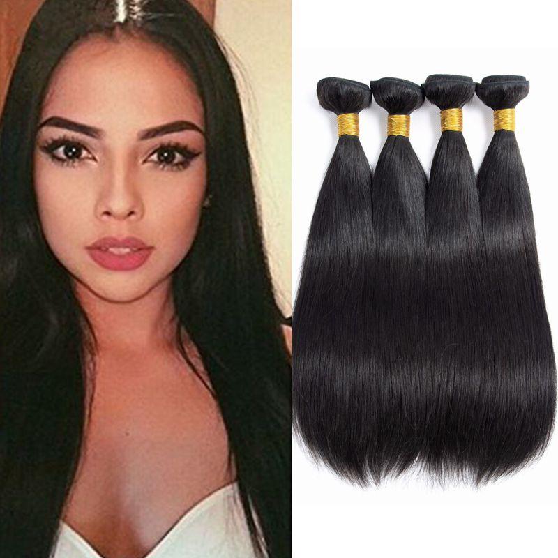 12345 Pcs 100 Brazilian Straight Human Remy Hair Bundles Weave