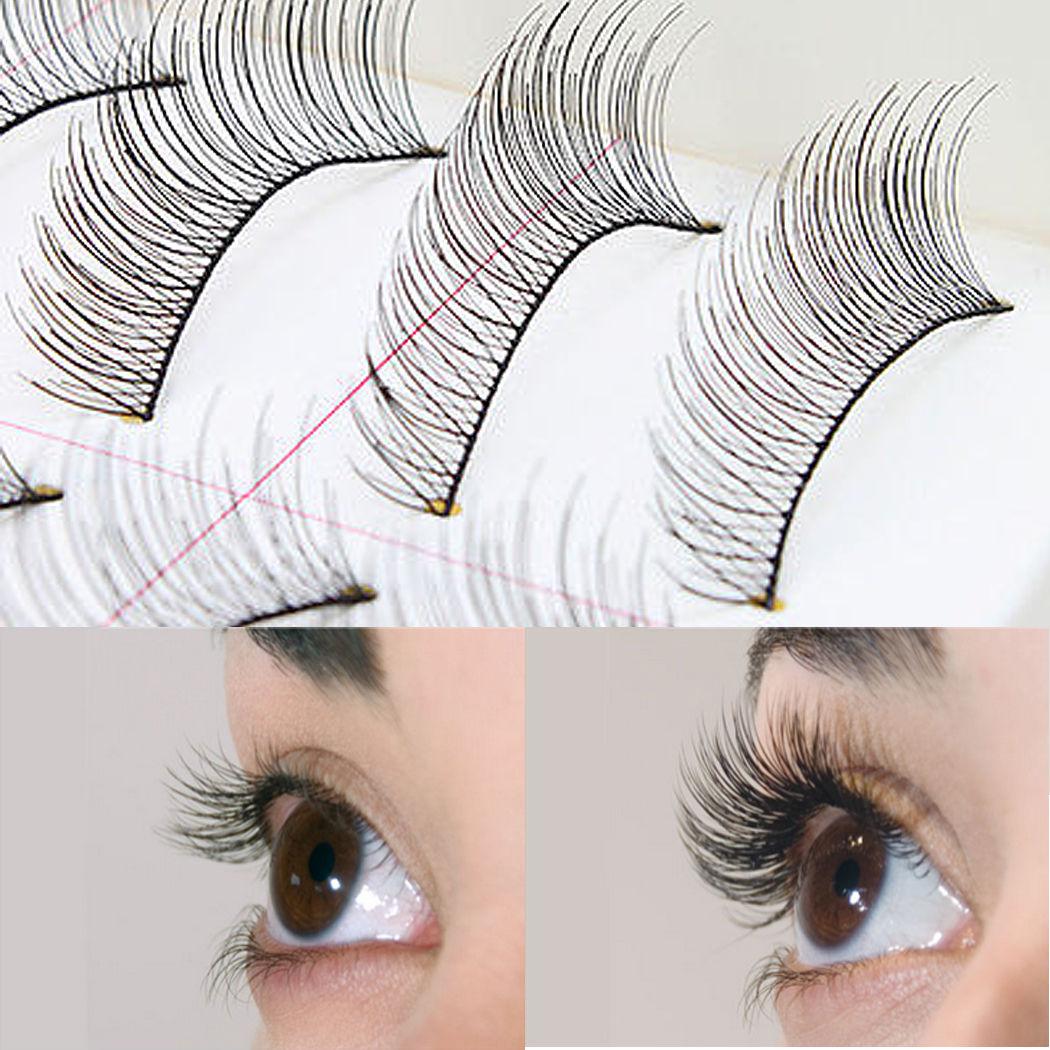 d4ebb2483f0 Details about 10Pairs Natural Fashion Eyelashes Eye Makeup Handmade Long  False Lashes Sparse