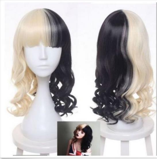 women u0026 39 s melanie martinez wig half blonde and black wave cosplay wigs synthetic