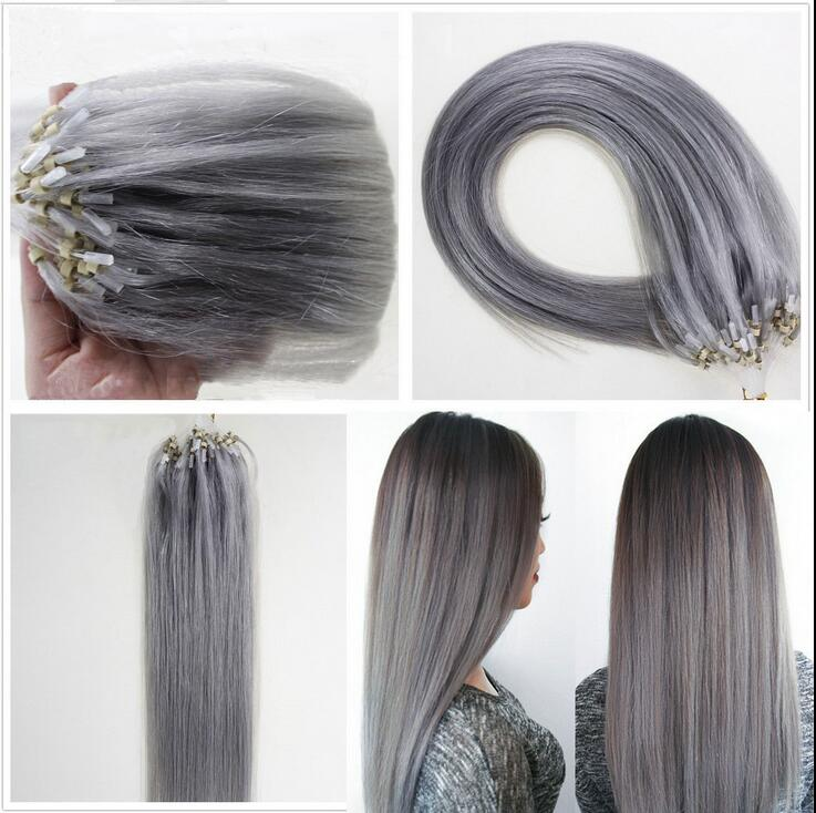 7a 16 26 100 Remy Brazilian Human Hair Extensions Loop Micro Ring