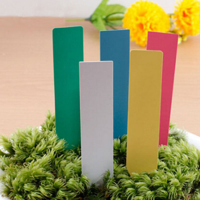 100Pcs Garden Plant Pot Markers Plastic Stake Tags Yard Nursery Seed Labels New