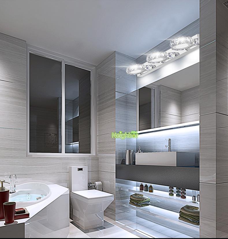 Modern LED Crystal Wall Lamp Bathroom Mirror Front Light ...
