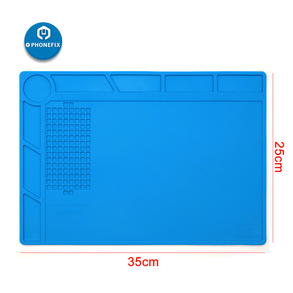 25CM*35CM Anti Static Phone PCB Repair Heat Insulation Silicone Pad ESD Desk Mat