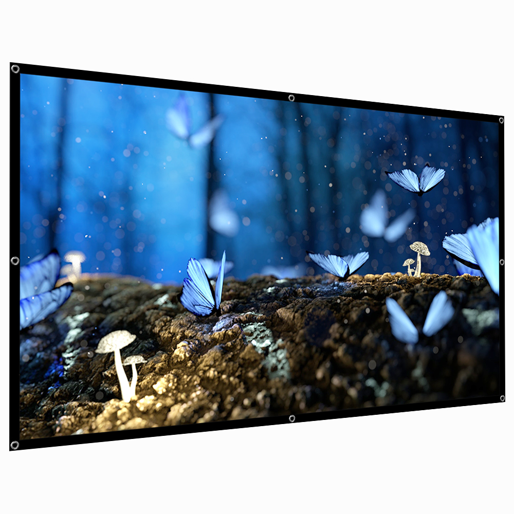 """60-120/"""" HD 16:9 Projector Screen Home Cinema Theater Outdoor Projection Screen"""