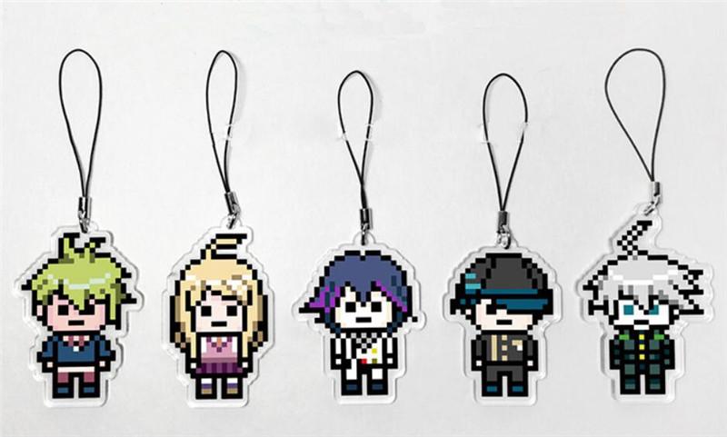 Danganronpa V3 Killing Harmony Kokichi Oma Ki-bo Shuichi Pixel Style Keyring