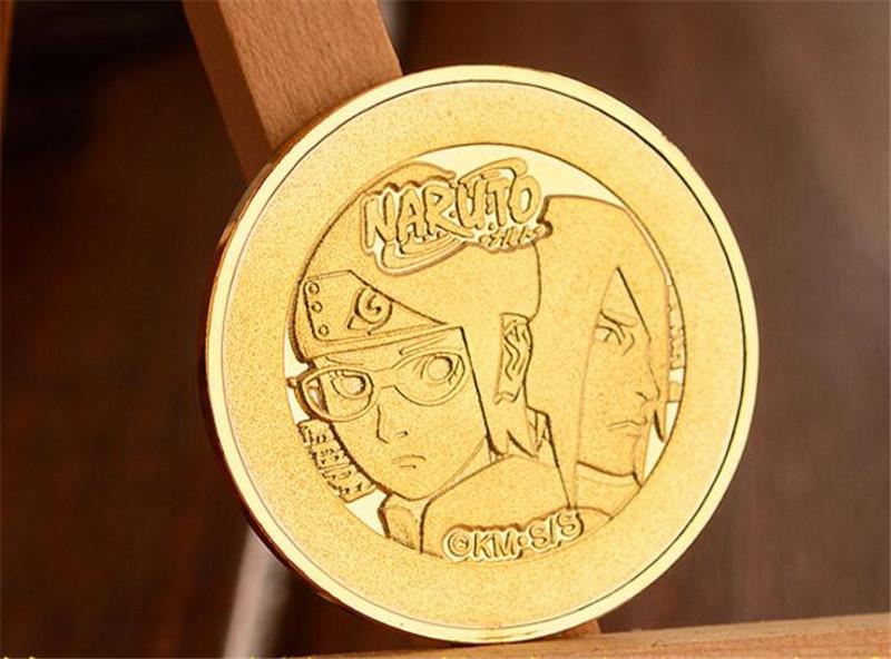 Anime Naruto Uzumaki Naruto GOLD Metal Coin Collection CHRONICLE Memento Gift