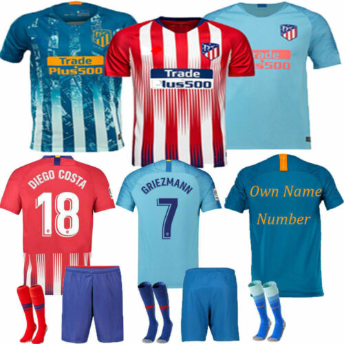 18/19 Boys Kids Football Team Outfit Soccer Kit Jerseys Short Sleeve Shirt Socks Kids' Clothes, Shoes & Accs.