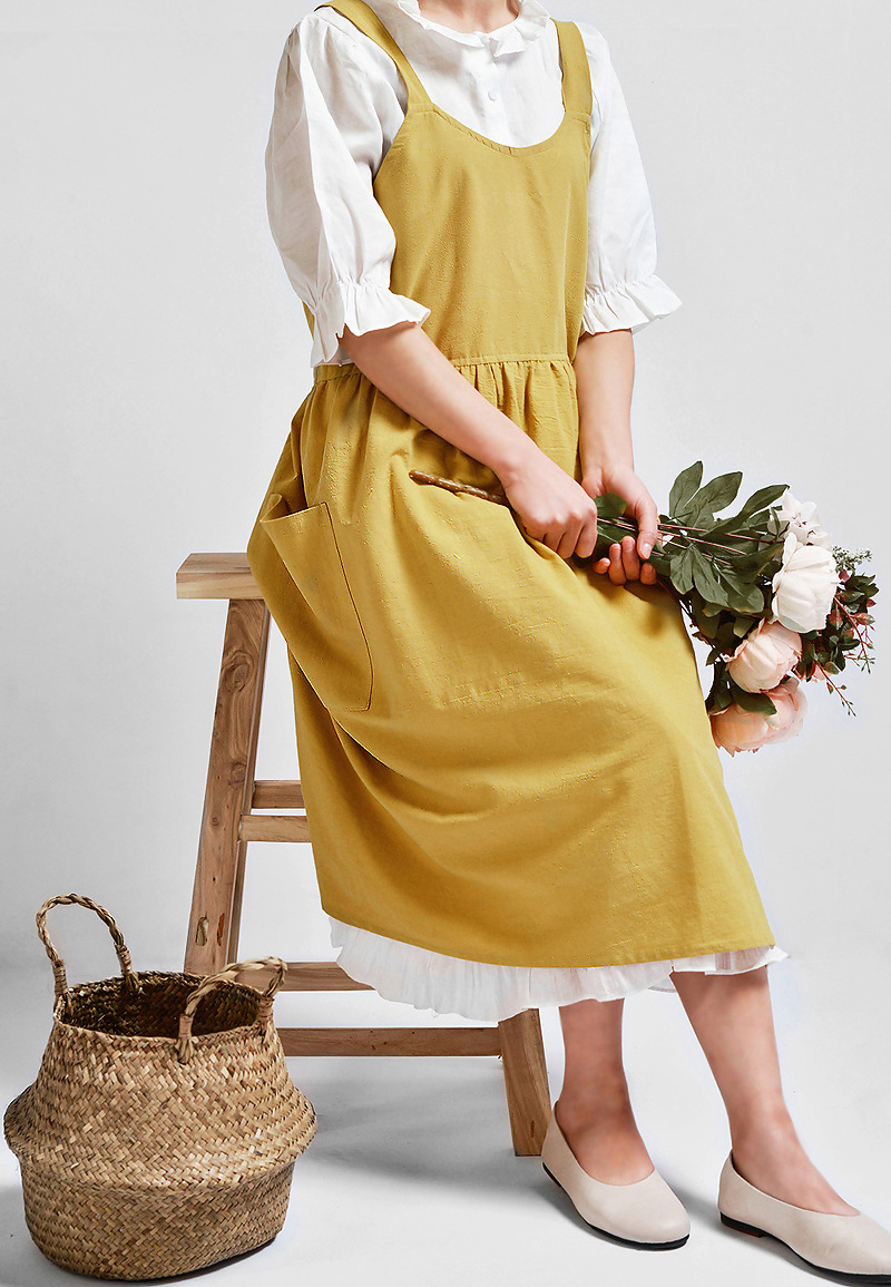fab6459d92 You may also like. Women Cotton Linen Cross Back Apron Japanese Housework  Wrap Pinafore ...