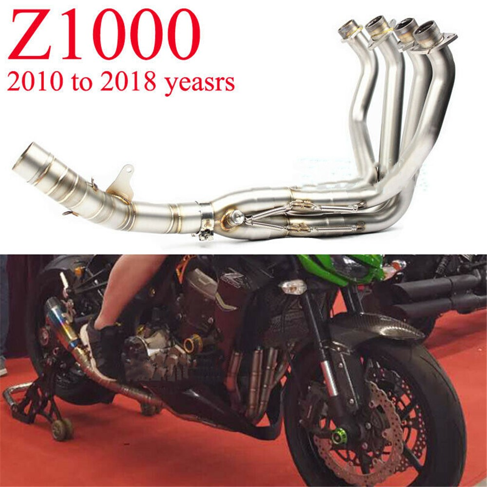 Stainless Steel Exhaust System Front Link Pipe For Kawasaki Z1000 2010-2017