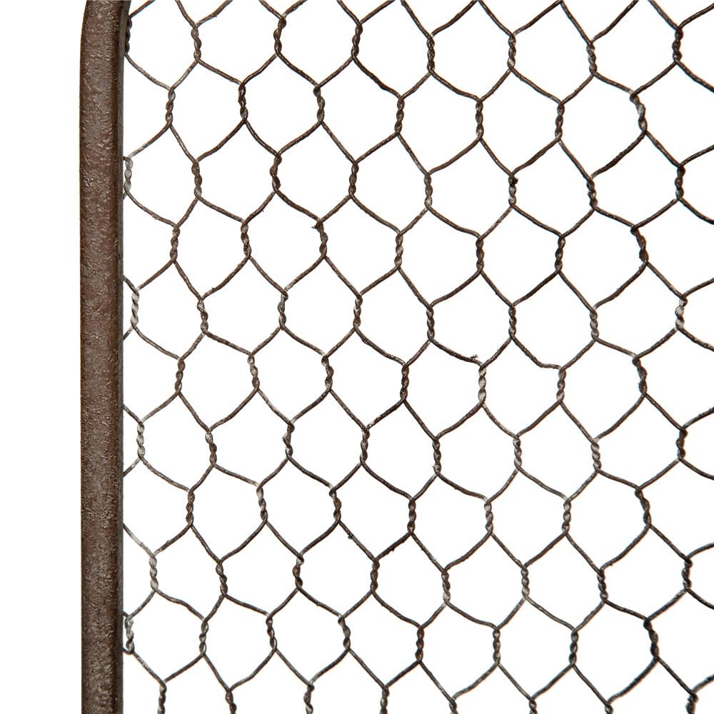 Glitzhome Farmhouse Galvanized Wire Wall Organizer Wall Mount Pocket ...
