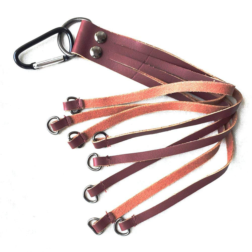 Duck strap bird hanger game carrier brown genuine leather shooting hunting