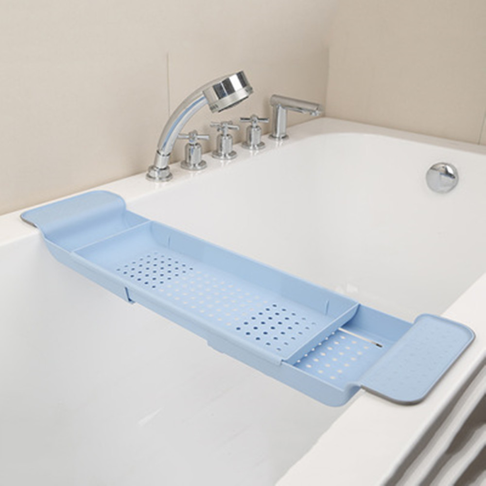 5395156abf35a Details about Extended Luxury Bath Bridge Bathtub Caddy Tray Rack Bathroom  Rack Multi-Purpose