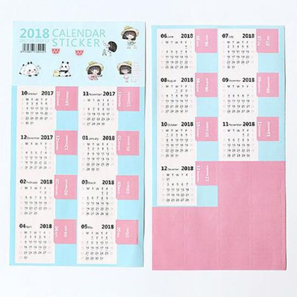 Diy Calendar Diary : Calendar tab category sticker diary planner