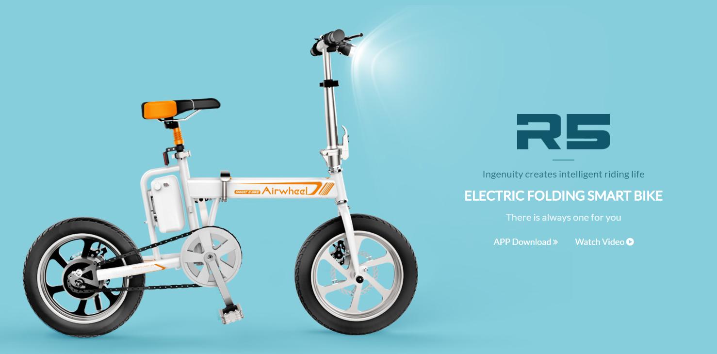airwheel r5 faltbares mini e bike elektrofahrrad pedelec. Black Bedroom Furniture Sets. Home Design Ideas