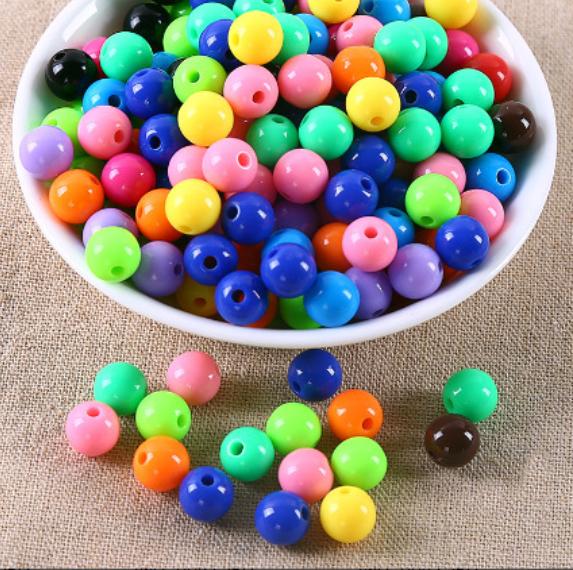 300x6mm //200x8mm//100x10mm//50x12mm//30x14mm Round acrylic beads 24 COLOUR CHOICE