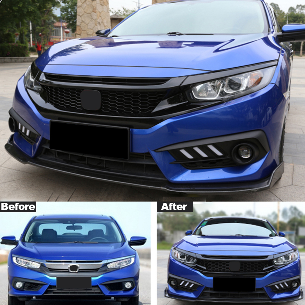 Black Grill For 2016 2017 2018 Honda Civic Type R Front