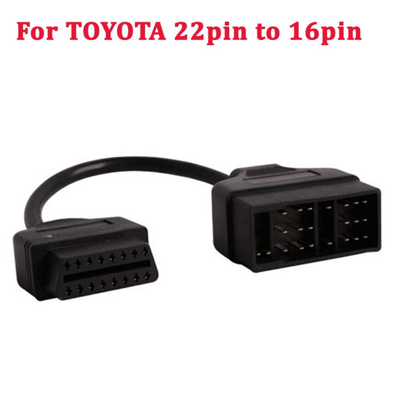 22 Pin OBD1 To 16 Pin OBD2 Convertor Adapter Cable For TOYOTA Diagnostic Scanner
