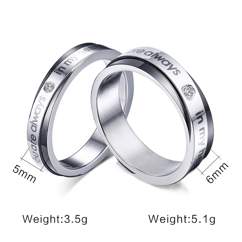 Love You Rings Promise Lovers Gifts For Her Him Girlfriend Wife ...