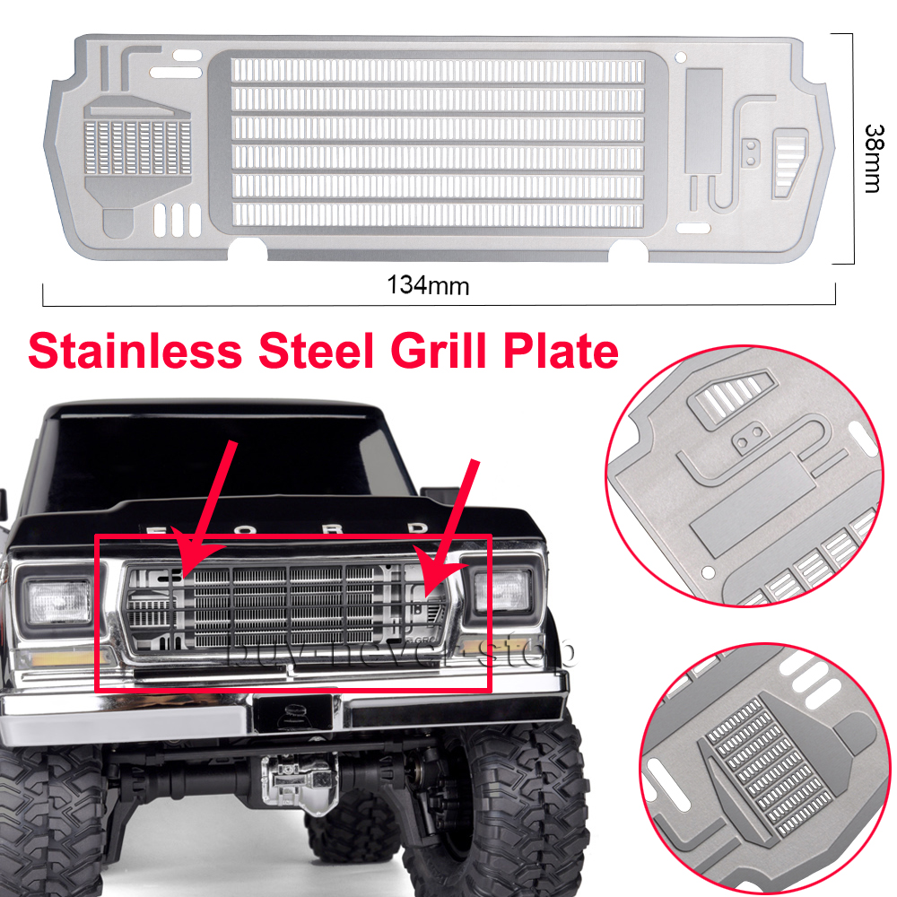 Metal Steel Radiator Grill Plate For Useful TRX-4 BRONCO 1//10 RC-Car Accessories