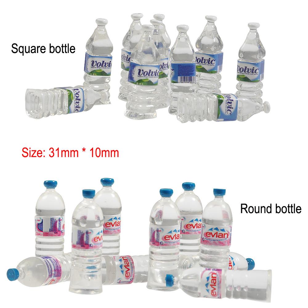 10Pcs Mini mineral water bottle for RC Car Crawler Toy TRX-4 SCX10 D90 Wraith